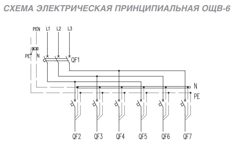 Электрическая схема щитка