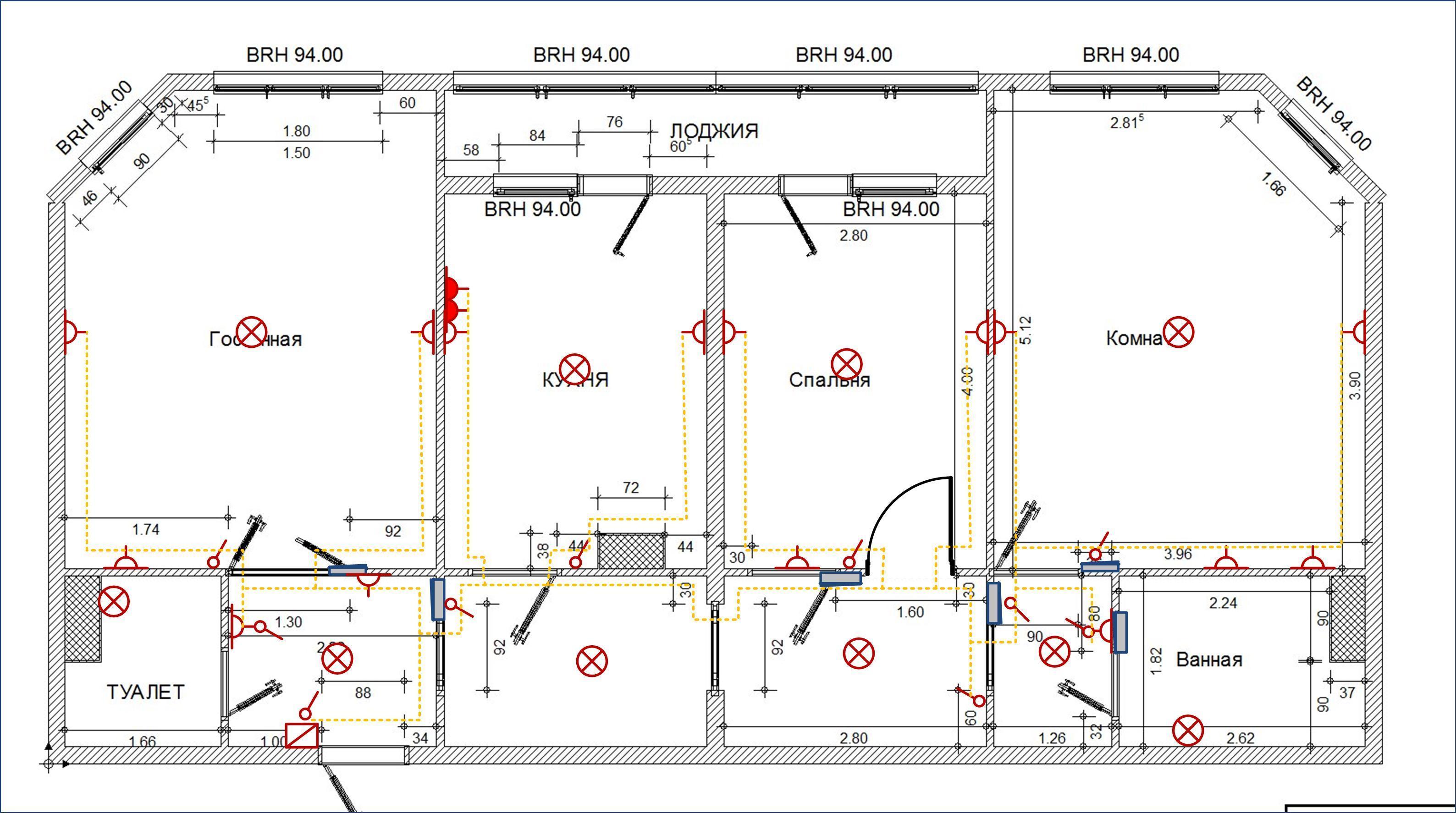 Схема разводка электропроводки в частном доРаспределительные гребенЛодка