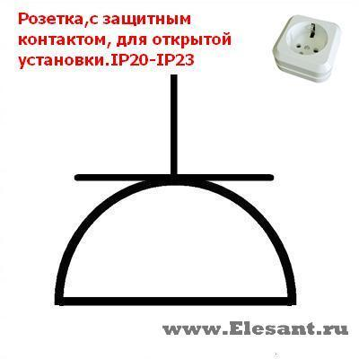 Условное обозначение розеток в электрической схеме