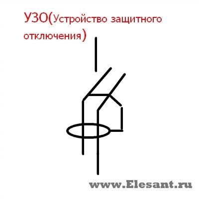 буквенное обозначение узо на схеме