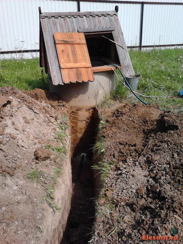 Как выкопать водопровод своими руками