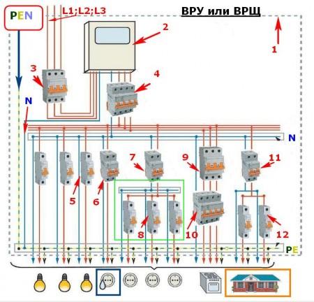 Схема подключения электрики в квартире фото 199