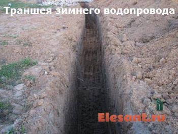 Ввод в дом канализации